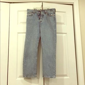 Light wash wedgie straight Levi's jeans NWT